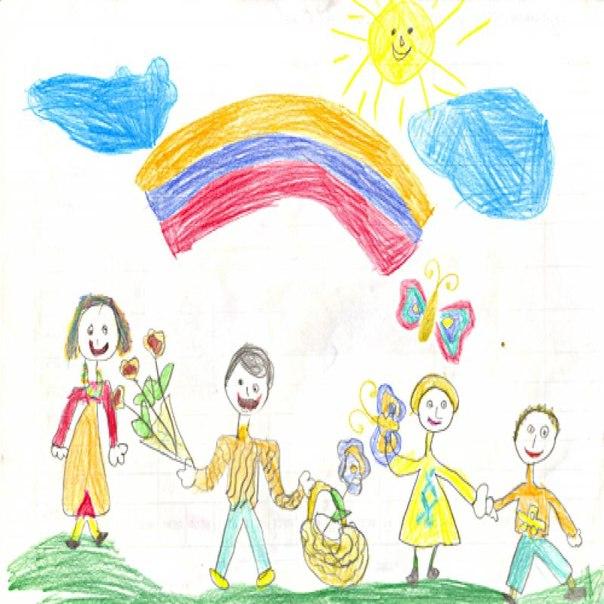счастливые рисунки: